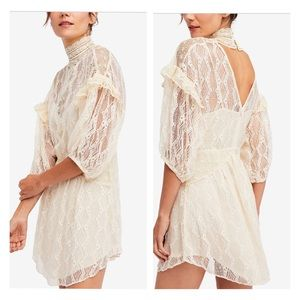 Free People Romantic Victorian Vintage Dress